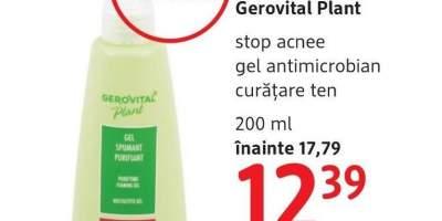 Gel antimicrobian curatare ten, Stop acnee, Gerovital Plant