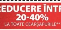 20-40% reducere la toate cearsafurile