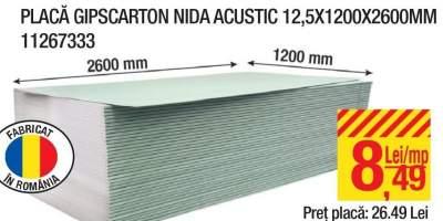Placa gipscarton Nida Acustic