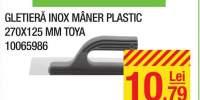 Gletiera inox maner plastic Toya