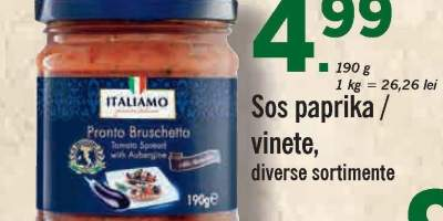 Sos paprika/vinete Italiamo