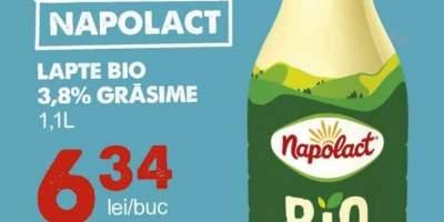 Lapte bio 3.8% grasime, Napolact