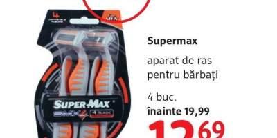 Aparat de ras pentru barbati, Supermax