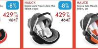 Scoica auto Hauck Zero Plus Select rosu, negru, gri