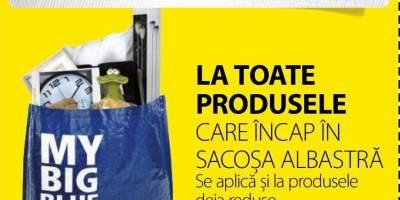 Extra reducere 15% la toate produsele care incap in sacosa albastra!