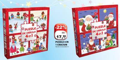 Puzzle 4 in 1 Craciun
