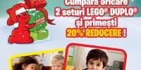Cumpara oricare 2 seturi Lego Duplo si primesti 20% reducere