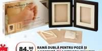 Rama dubla pentru poza si amprenta cu accesorii (mahon)