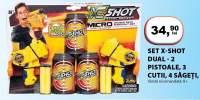 Set x-shot dual - 2 pistoale, 3 cutii, 4 sageti