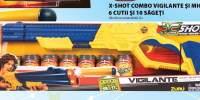 X-shot combo vigilante si micro - 6 cutii si 10 sageti