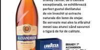 Brandy Alexandrion si cafea Crema e Gusto Lavazza