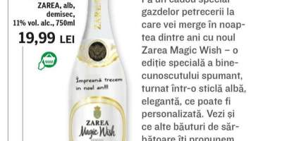 Vin spumant Magic Wish, Zarea