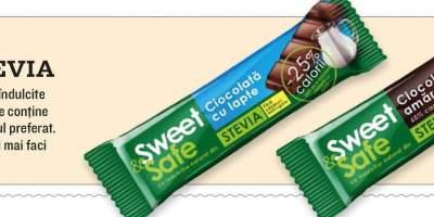Ciocolata cu lapte/ amaruie cu stevie Sweet&Safe