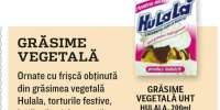 Grasime vegetala UHT, Hulala