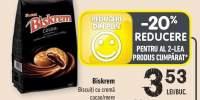 Biskrem biscuiti cu crema cacao/ mere