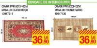 Covor interior PPR 80x140 centimetri Mamluk clasic rosu/ frunze maro