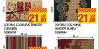 Covoras cocos/PVC 40x60 centimetri bufnite color/ Brokant/ Curcubeu/ Elegant