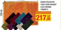 Covor poliester 120x170 centimetri Shaggy Luca Orange