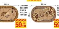Covor PPR 80x150 centimetri Berber Bej 1/2 oval