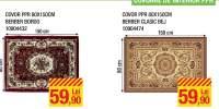 Covor PPR 80x150 centimetri Berber bordo/ bej