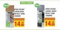 Spray satinat Luxens auriu/argintiu