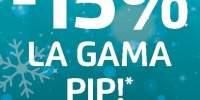 15% reducere la gama Pip
