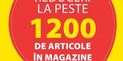 Reduceri la peste 1200 de articole in magazine