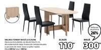 Obling + Toreby masa si scaune