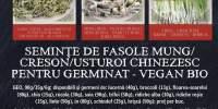 Seminte de fasole mung/ creeson/usturoi chinezesc pentru germinat-vegan bio Geo