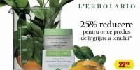 25% reducere pentru orice produs de ingrijire a tenului