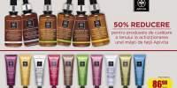 50% reducere pentru produsele de curatarea a tenului la achizitionarea unei masti de fata Apivita