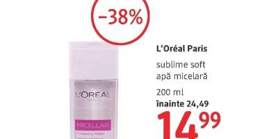 L'Oreal Paris sublime soft apa micelara