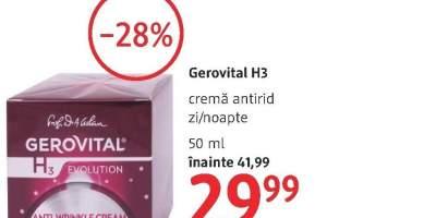 Gerovital H3 crema antirid zi/noapte