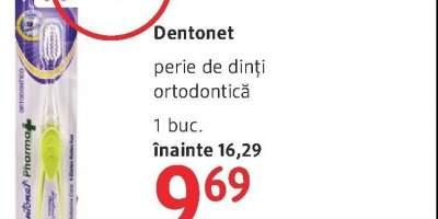 Dentonet perie de dinti ortodontica