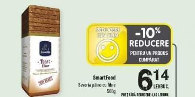 SmartFood Savoria paine cu fibre