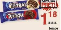 Tempo biscuiti cacao cu crema de ciocolata / cacao cu crema de vanilie / crema de vanilie