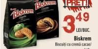 Biskrem biscuiti cu crema cacao / mere