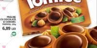 Praline cu ciocolata si caramel Tofifee