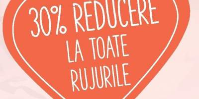 30 % reducere la toate rujurile