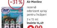 Air Menline rezerva odorizant spray pentru incaperi