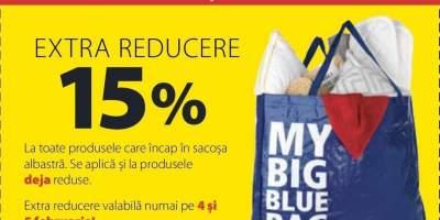 ExtraReducere 15% pe 4 si 5 februarie
