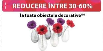 Reducere intre 30-60% la toate obiectele decorative