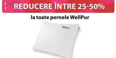 Reducere intre 25-50% la toate pernele WellPur