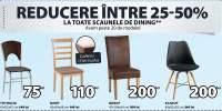 Reducere intre 25-50% la toate scaunele de dining