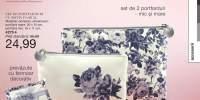Set de portfarduri cu motiv floral