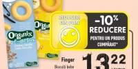 Finger biscuiti bebe vanilie/ banane bio