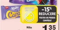 Milka baton de ciocolata oreo/caramel