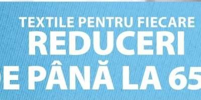 Reduceri de pana la 65% la textile