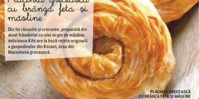 Placinta greceasca cu branza feta si masline