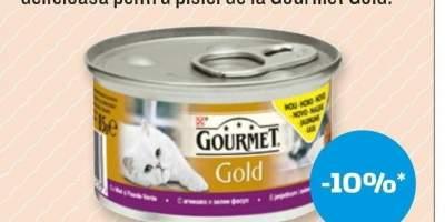 Hrana pentru pisici cu miel si fasole verde Gourmet Gold